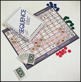Sequence fun board game for adults