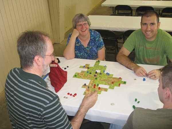 Playing Carcassonne in Marietta