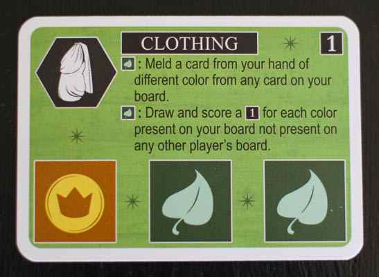 Clothing card