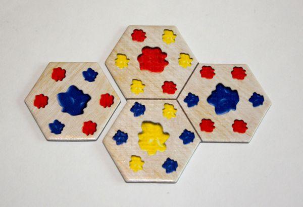 Pastiche hex tiles