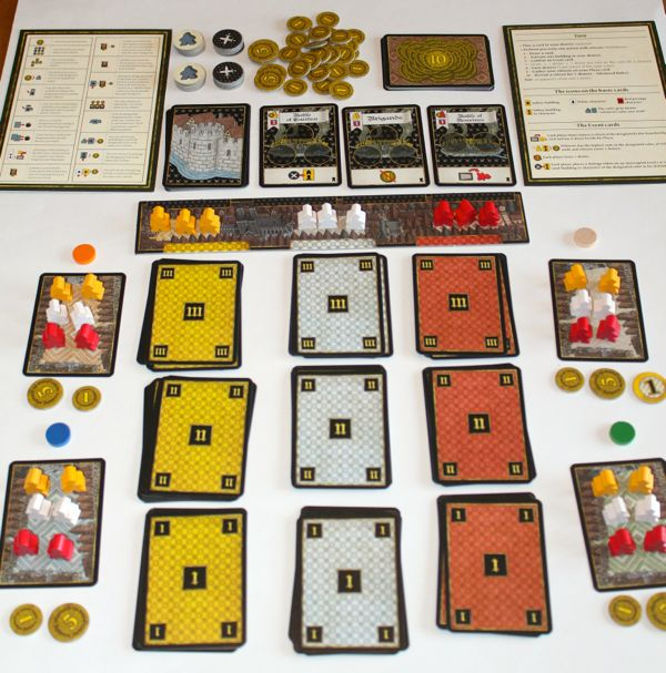 Tournay - 4 player setup